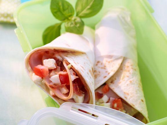 Tomate-Mozzarella-Wrap