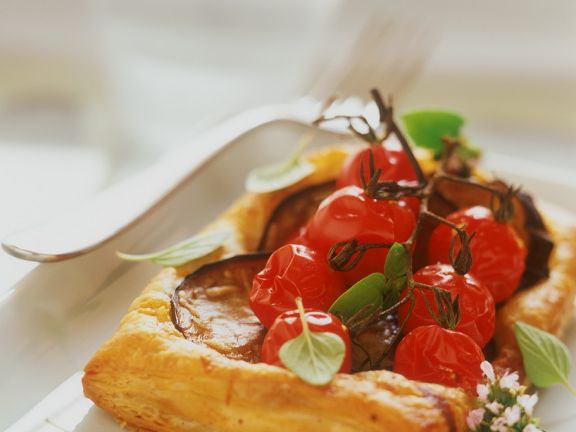 Tomaten-Auberginen-Tarte