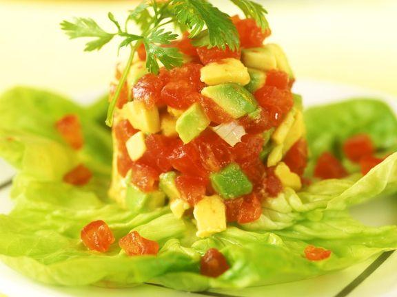 Tomaten-Avocadosalat