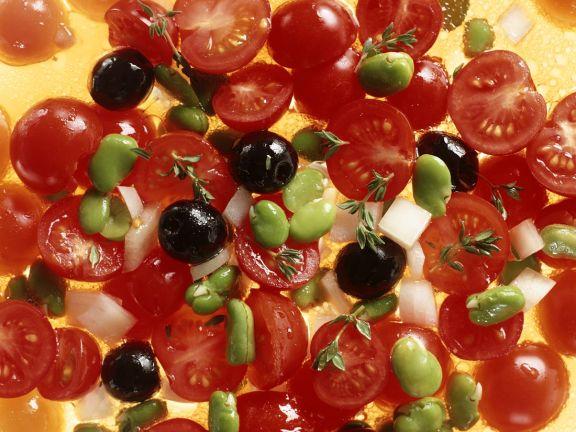 Tomaten-Bohnensalat