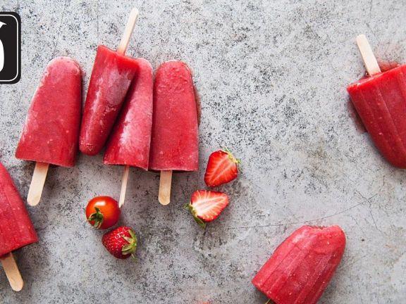 Tomaten-Erdbeer-Eis am Stiel für den Thermomix®