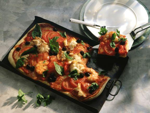 Tomaten-Fisch-Pizza