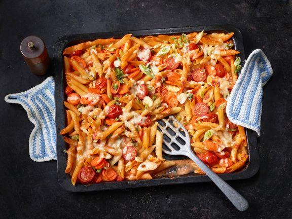 Tomaten-Gemüse-Penne aus dem Ofen