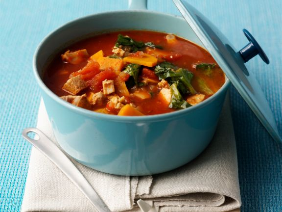 Tomaten-Gemüseragout mit Tofu