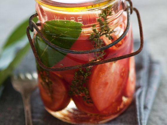 Tomaten im Essigsud