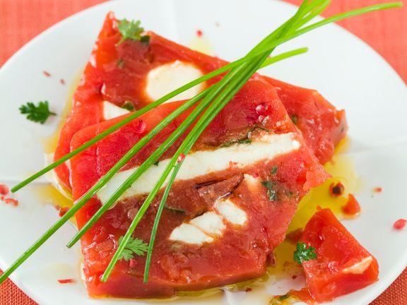 Tomaten-Käse-Parfait