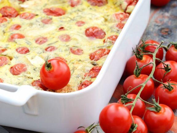 Tomaten-Käseauflauf