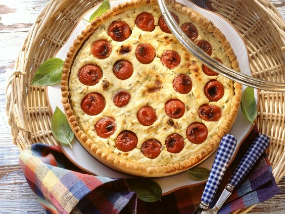 Tomaten-Käsequiche