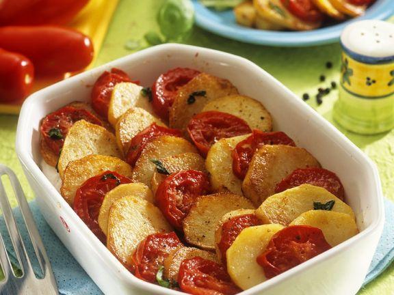 Tomaten-Kartoffelgratin