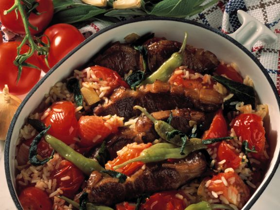 Tomaten-Lamm-Kasserolle