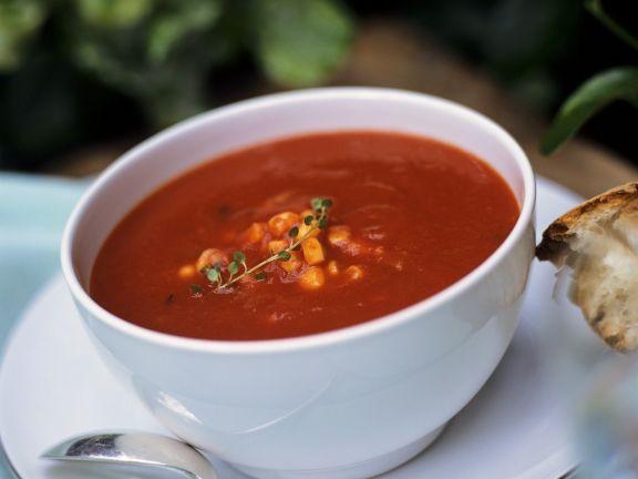 Tomaten-Maissuppe