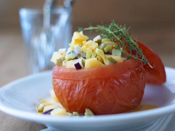 Tomaten mit Kartoffelfüllung