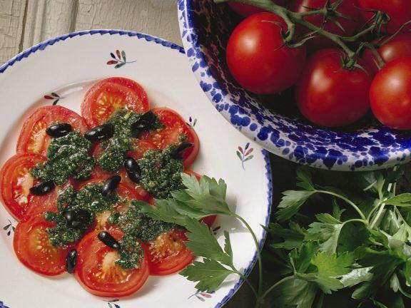 Tomaten mit Pesto