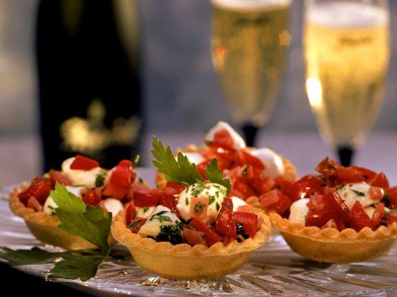 Tomaten-Mozzarella-Küchlein
