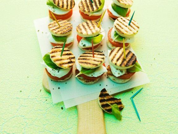 Tomaten-Mozzarella-Sandwiches
