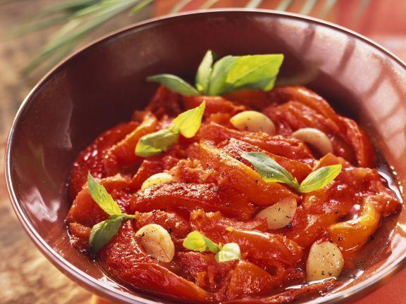 Tomaten-Paprika-Pfanne auf algerische Art