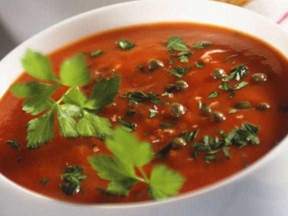 Tomaten-Pfeffer-Sauce mit Petersilie