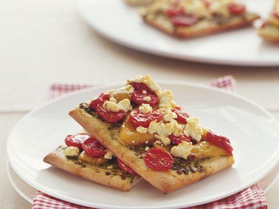 Tomaten-Pizza-Schnitten