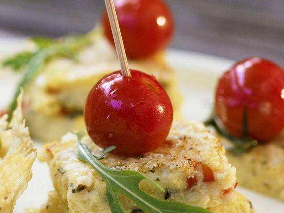 Tomaten-Polentaschnitten
