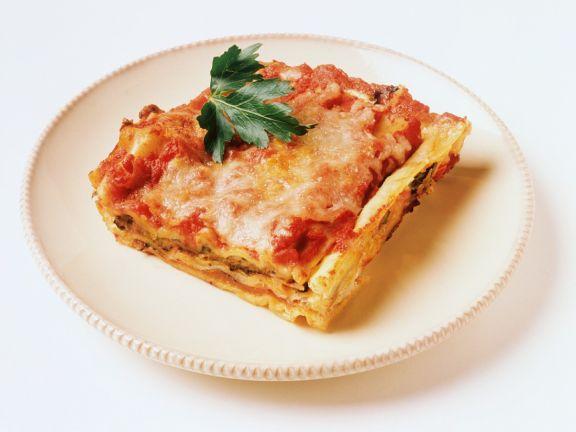 Tomaten-Ricotta-Lasagne