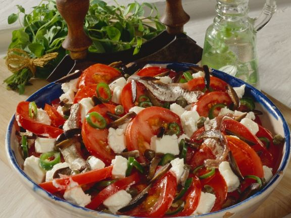 Tomaten-Schafskäsesalat