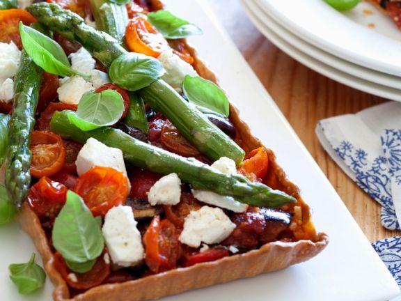 Tomaten-Spargel-Tarte
