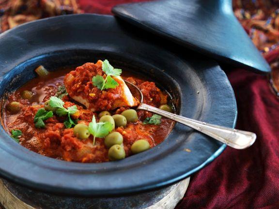 Tomaten-Tajine mit Fischfilet