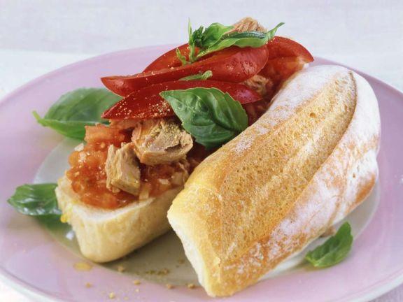 Tomaten-Thunfisch-Baguette