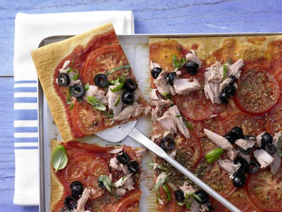 Tomaten-Thunfisch-Pizza