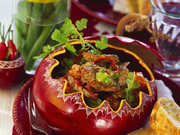 Tomatenragout mit Rinderfilet