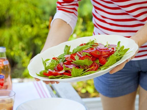 Tomatensalat mit Rucola