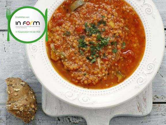 Tomatensuppe mit Couscous