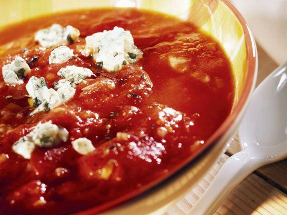Tomatensuppe mit Roquefort