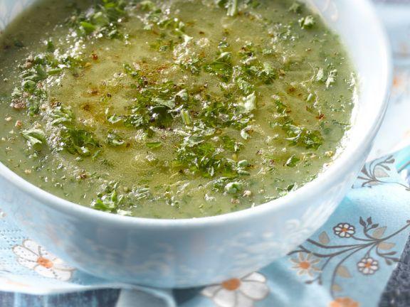 Topinambur-Petersilien-Suppe