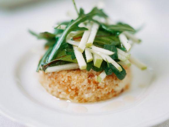 Topinamburcreme mit Salat