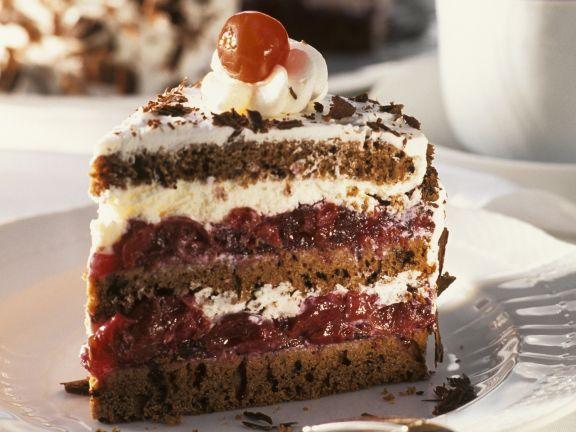 Torte Schwarzwälder-Art