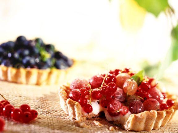 Torteletts mit gemischten Beeren
