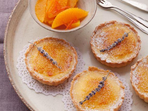 Torteletts mit Orangencreme