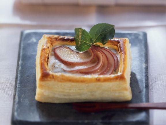 Torteletts mit Roquefort und Birnen