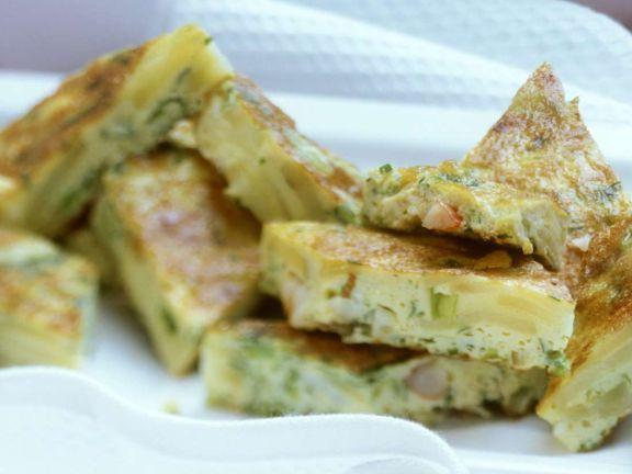 Tortilla mit Garnelen