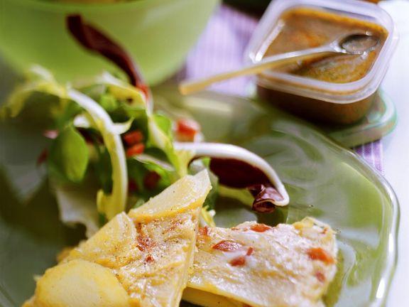 Tortilla mit Paprika und Mojo