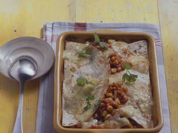 Tortillas mit Hähnchen-Gemüsefüllung
