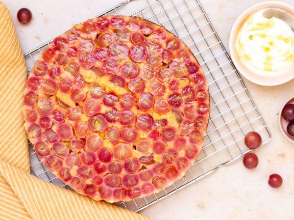 Traubenkuchen mit Olivenöl