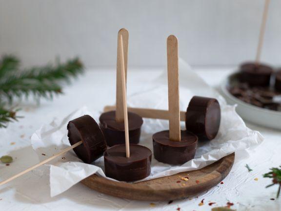 Trinkschokolade am Stiel