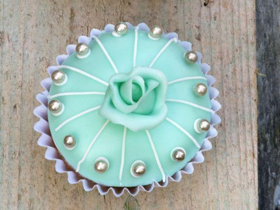 Türkise Cupcakes