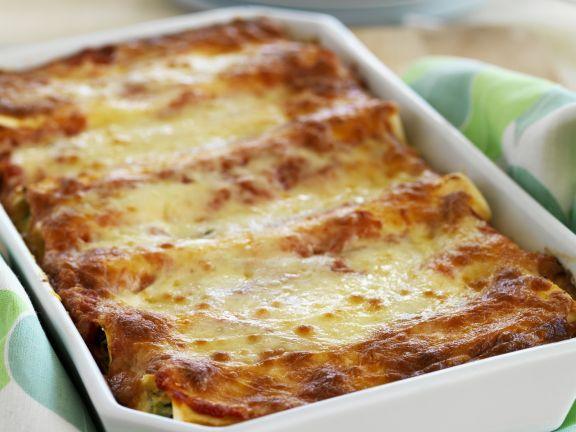 Überbackene Cannelloni