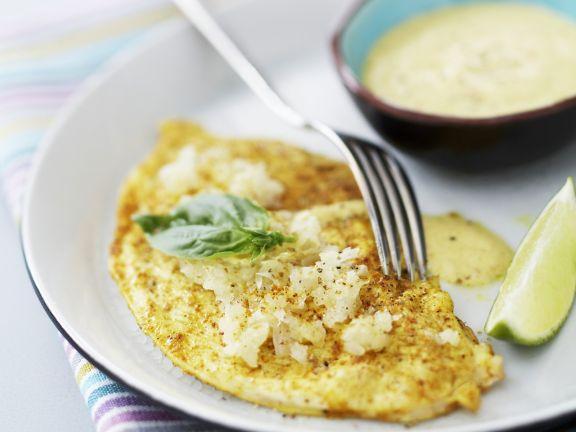 Überbackene Putenschnitzel mit Currysauce