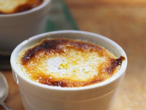 Überbackener Orangenpudding