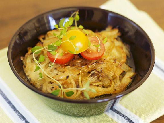 Überbackenes Sauerkraut