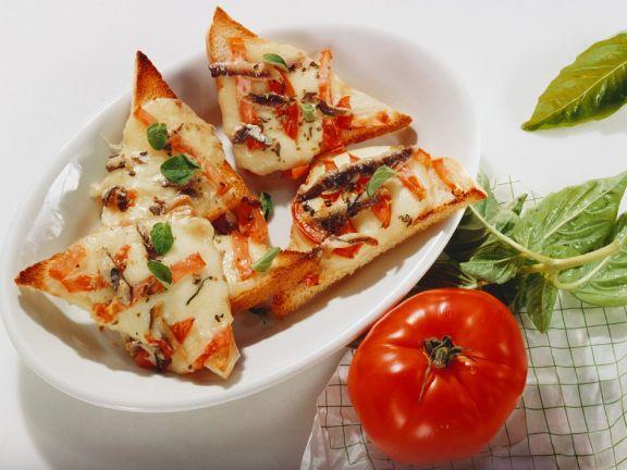 Überbackenes Tomaten-Weißbrot